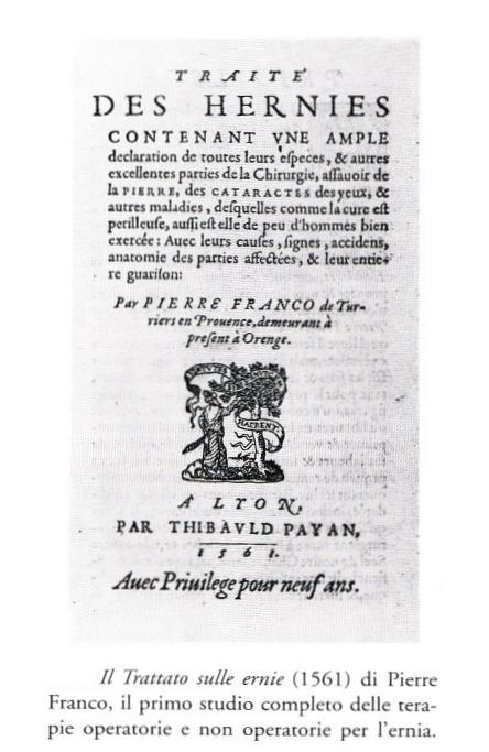 Trattato sulle ernie Pierre Franco