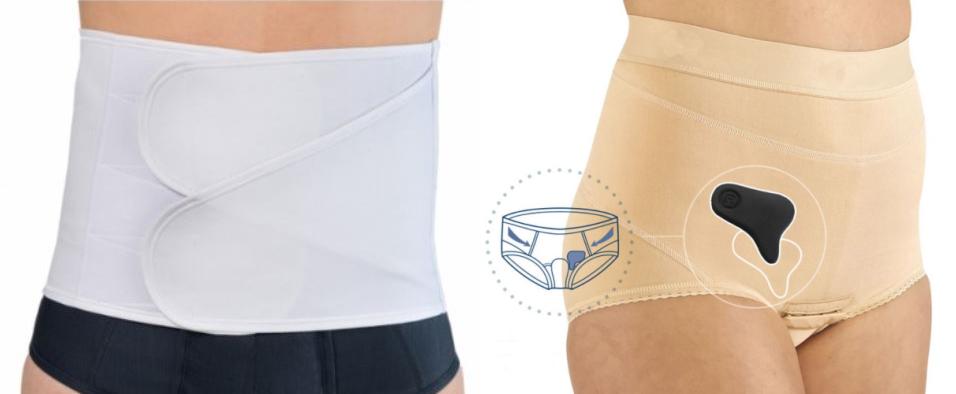 Esempio di fascia e mutanda elastica